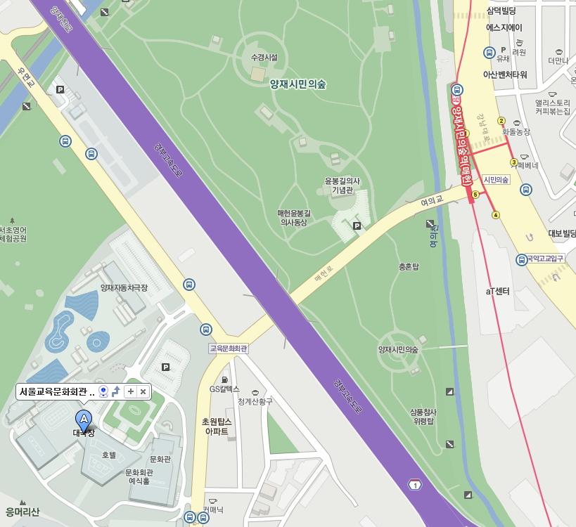 교육문화회관 대극장 지도